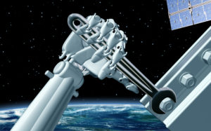 Robot with wrench visual associated with In-Orbit Servicing