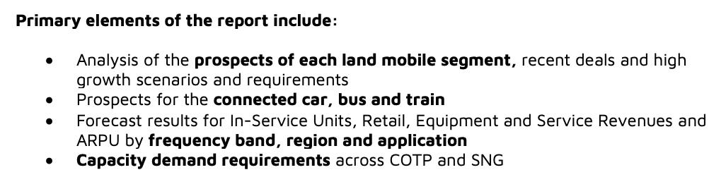 Land-Mobile via Satellite, 6th Edition - NSR