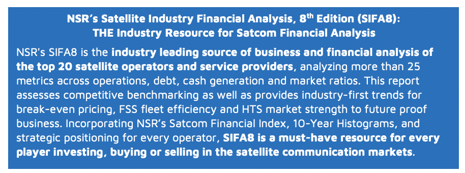 NSR's Satcom Financial Index 2018- Dissecting the Trends - NSR