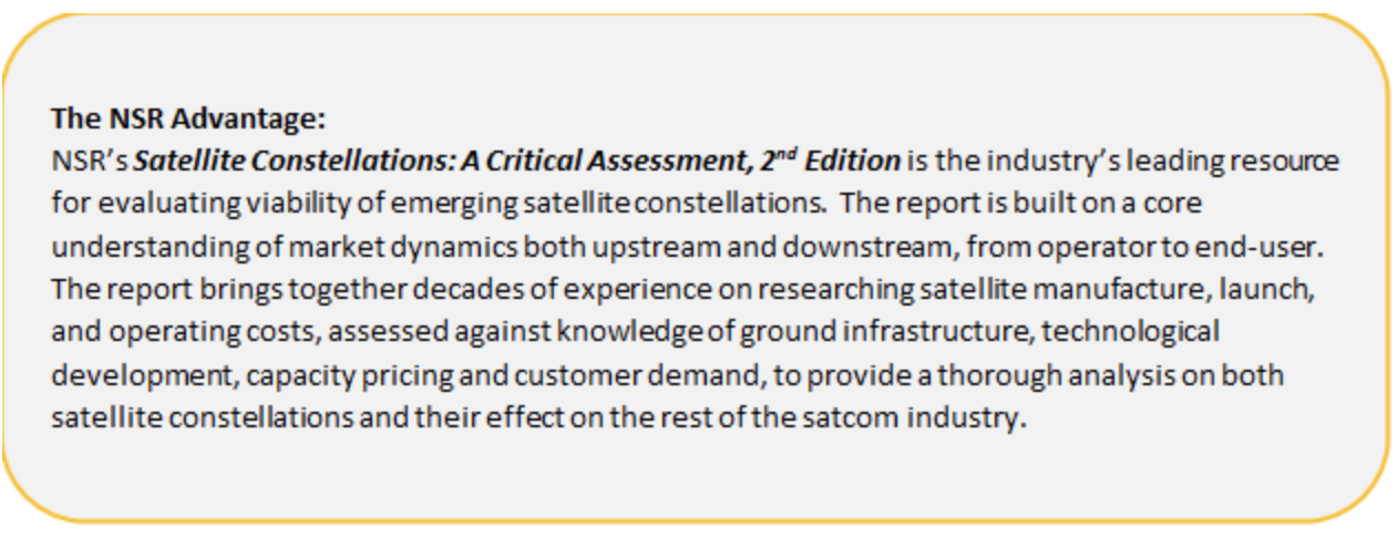Satellite Constellations, A Critical Assessment, 2nd Edition - NSR
