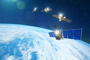 Satellite Constellation in orbit