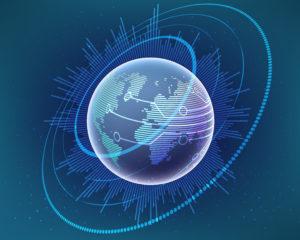 Picture of Ku band Global communication graphic